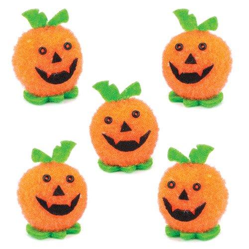 e für Kinder als Bastel- und Deko-Idee Zum Gestalten zu Halloween für Jungen und Mädchen (10 Stück) (Kinder Kürbis Dekoration Kit)