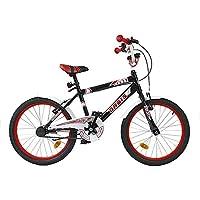 20pollici BMX Bambini Bicicletta Ruota Bicicletta per bambini ragazzi Bicicletta Ciclismo da crazy Classic Nero - 20 Ragazze Bmx Bicicletta