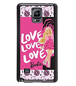PrintVisa Metal Printed Love Designer Back Case Cover for Samsung Galaxy Note 4 N910G -D4734