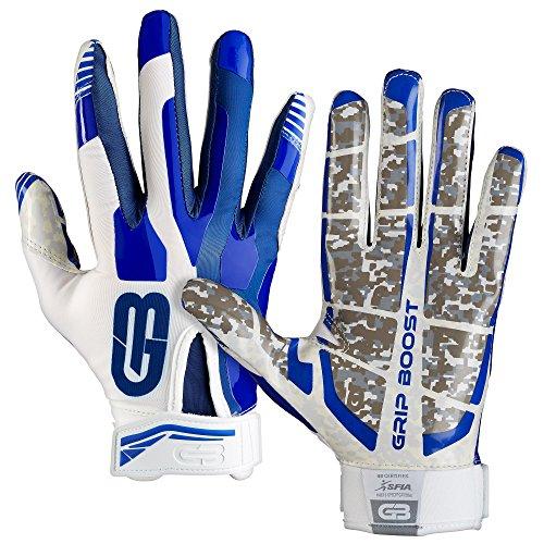 GRIP BOOST Stealth Fußball Handschuhe Pro Elite (Blue/White, Youth Medium) - Blau Fußball-handschuhe Youth