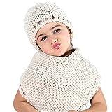 Tacobear Otoño Invierno Tejidos Animal Sombreros Bufandas Chales Cofia Capucha Gorra Knit Bufanda con un Sombrero para Niños Niñas (triángulo Bufanda Sombrero)