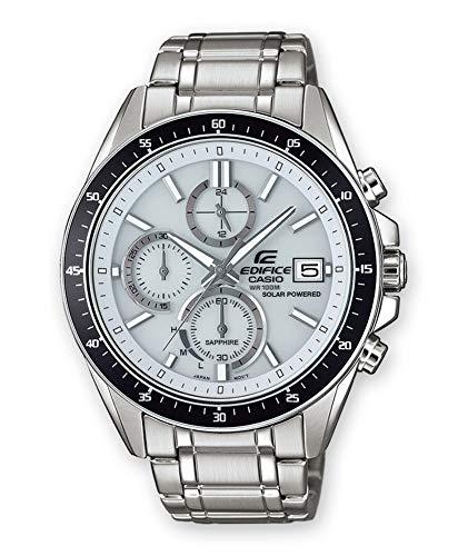 CASIO Herren Chronograph Solar Uhr mit Edelstahl Armband EFS-S510D-7AVUEF