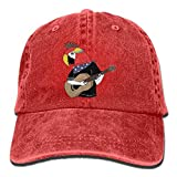Parrot Bird is Playing The Guitar Printed Baseball Caps Cowboy Hats Sun Hats