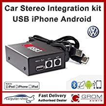 Grom Audio kit de integración de USB3para multimedia USB, iPod/iPhones o teléfonos Android para Volkswagen 2008y posterior con RNS 310, RNS 315, RNS 510, RCD 510estéreo