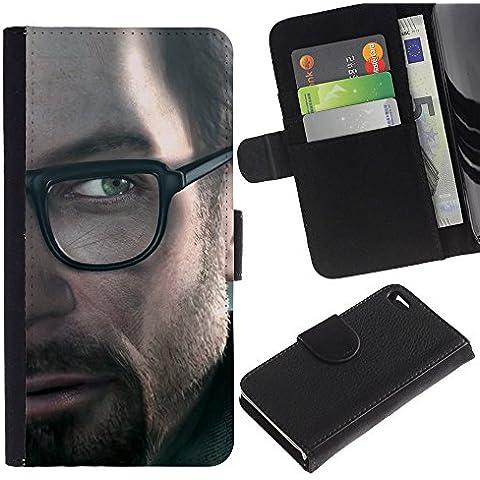Funny Phone Case // Pelle Portafoglio Custodia protettiva Cassa Caso Leather Wallet Protective Case per (Pantaloni Freeman)