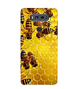 For LG V20 honey bee ( honey bee, beehive, beautiful bee, nice beehive ) Printed Designer Back Case Cover By FashionCops