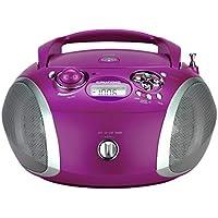 Grundig GRB 2000 Tragbare Radio Boombox lila/silber