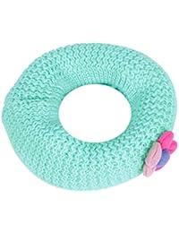 Damara Double Layer Knitted Soft Neckerchief Kids' Fabric Flower Scarves