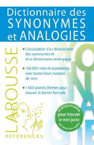 Dictionnaire des synonymes et analogies de Collectif (21 août 2013) Broché