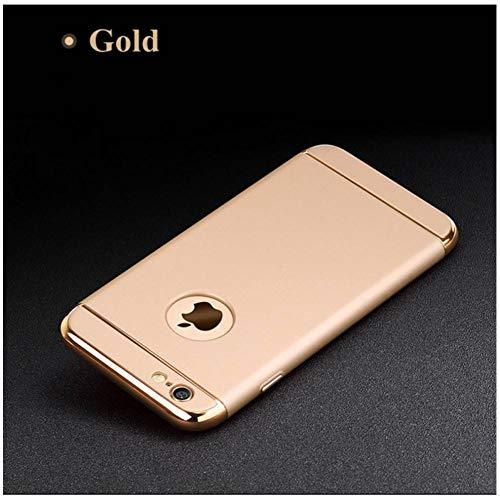 SFJUL Handyhülle für iPhone 6s Fall Luxuxschwarzer Harter Schutz-Mattfall 360 für iPhone 6 S 7 8 Plus entfernbare 3 in 1 rückseitige Abdeckung für iphone6   X (Fall Iphone6 Plus-harter)