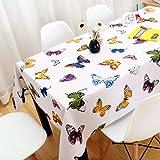 Tischdecken Schöne Schmetterlingsdruck Baumwolle und Leinen reines Weiß Wohnzimmer rechteckige Kaffee Handtuch HD-Druck und Färben Küchentextilien