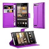 Cadorabo Hülle für Huawei G6 Hülle in Mangan Violett Handyhülle mit Kartenfach und Standfunktion Case Cover Schutzhülle Etui Tasche Book Klapp Style Mangan-Violett