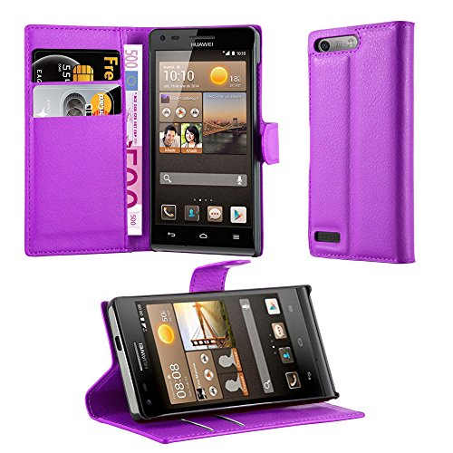 Cadorabo Hülle für Huawei G6 Hülle in Mangan Violett Handyhülle mit Kartenfach & Standfunktion Case Cover Schutzhülle Etui Tasche Book Klapp Style Mangan-Violett