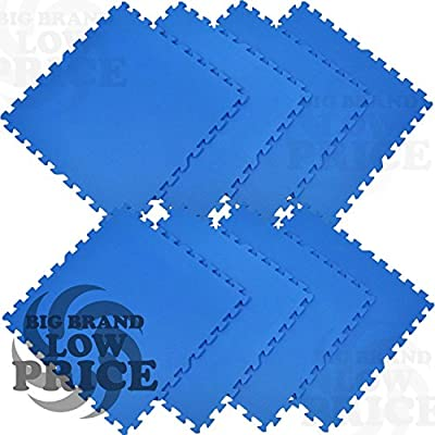 FB FunkyBuys® Blue 50SQ.FT EVA Interlocking Reversible Floor 50pc Mat Play Area Gym Exercise Indoor Outdoor Protective Flooring Mat 30x30cm produced by FB FunkyBuys® - quick delivery from UK.