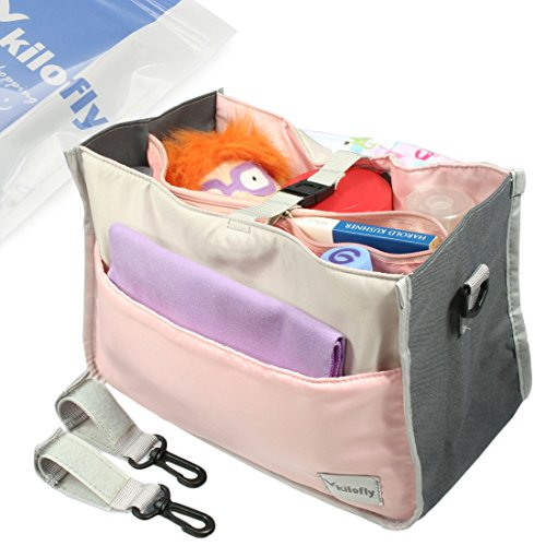 kf-baby-diaper-bag-insert-stroller-organizer-w-handle-2-attachable-straps