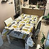 lxtmgzgf Tissu Imprimé PolyesterSérie De Noël Nappe en Tissu Décoratif Maison Table À Manger en Plein Air, M, 140X140Cm