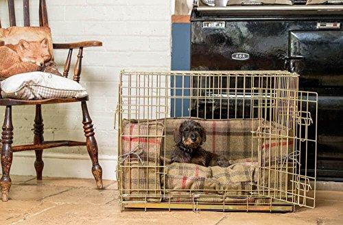Lords & Labrador Hunter Balmoral Tweed Bumper Set mit einem Ellie-Bo Hundekäfig (inkl. einer Box, Bumper und Kissen)