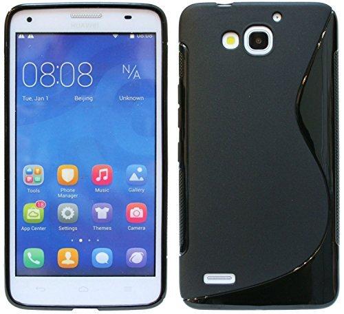 Huawei Ascend G750 Silikon Hülle Schale Tasche in Schwarz @ Energmix