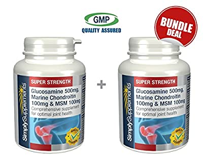 Simply Supplements Glucosamine, Chondroitin and MSM Bundle Deal 240 Tablets in total