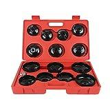 YIFAA 14pcs Filtro dell'olio, Cappuccio Set Tappo Filtro Olio, Chiave Cambio Olio Strumento Adattatore