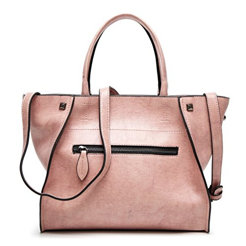 YiLianDa PU Leder Handtasche Ledertasche Umhängetasche Leder Überschlagtasche als Bild(5)