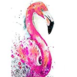 DIY 5D Diamond Painting, Crystal Rhinestone Diamond Embroidery Paintings Pictures Arts Craft for Home Wall Decor Flamingo 11.8 X 15.7 Inch