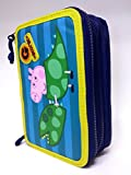 Trousse 3 zip Pepp Pig George complet stylos école New offre 2016