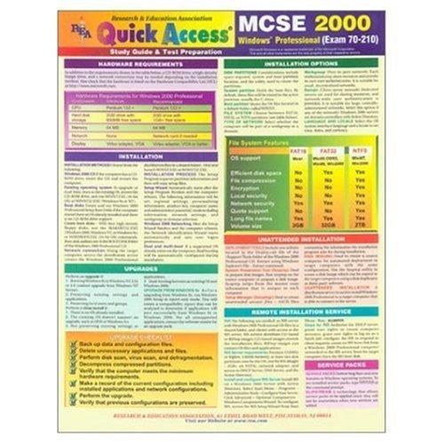 Quick Access McSe 2000: Windows Professional (Exam 70-210) : Study Guide & Test Preparation