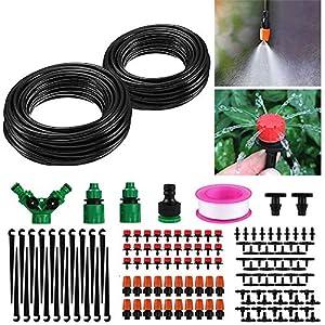 Kit Riego por Goteo, Sistema de Riego Automático de Jardín, Tubería de Agua de 30 M/149 Piezas de Riego, Puertos 3/4 y 1…