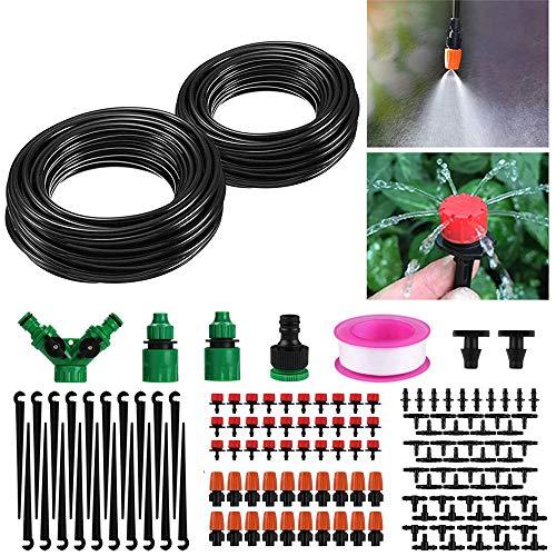 viixm 30m sistema di irrigazione da giardino, micro drip irrigation kit irrigazione a goccia sprinkler kit irrigazione giardino automatica per terrazza piante, giardino, prato, piante in vaso