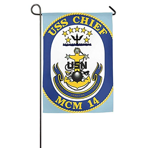 momnn Online US Navy CPO Chief Petty Officer Family Party Home Yard House Garden Flags All-Weather Polyester Emblemize 12x18 inches (Us-navy Chief)