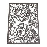 Lazzboy Fustelle Natale Scrapbooking Metallo Stencil Paper Card Craft per Sizzix Big Shot/Altre Macchine(E, Motivo Floreale)