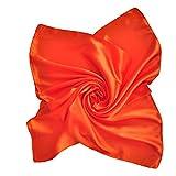 Heyjewels Damen Schal Uni Tuch Bandana Halstuch Kopftuch 60 x 60cm (Orange)