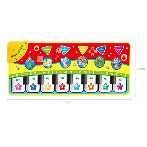 funktions-Musik Spiel Teppich Kinder Bildung Puzzle Interessen Spielzeug Touch Play Keyboard Musikalische Tanzen Singen Gym Mat (Halloween-musik-spiele)