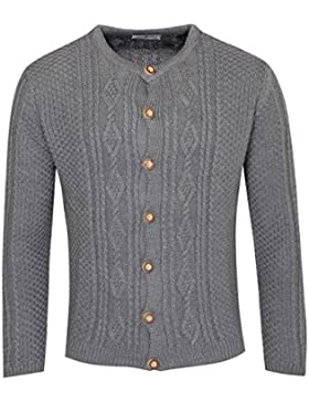 Strickjacke Ferdl in Anthrazit von Almsach