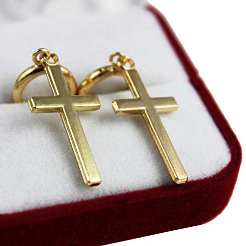 Damen Ohrringe Schmuck Ohrstecker stecker DAY.LIN 1 Paar Mode Stahl Kreuz Tragus Oberen Ohrknorpel Ohrring Piercing (A) (Handtasche Kristall-kreuz-umhängetasche)