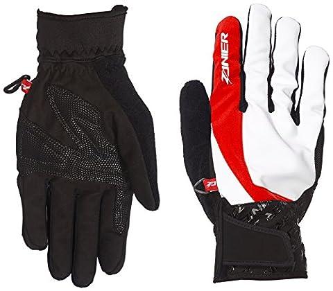 Zanier gants homme Skater.ZB, blanc/rouge, M, 39020