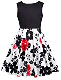 GRACE KARIN Fille Robe Rétro Rockabilly Col Rond Vintage Robe Taille FR600-3 10~11 Ans FR600-3...