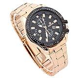 Herren Uhren Mode Wasserdichte Chronograph Quarz Uhr für Mann Luxus Business Kleid mit Schwarzem Edelstahlgewebe