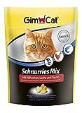 GimCat Schnurries Mix mit Hühnchen, Lachs Und Taurin, 1er Pack (1 x 140 g)