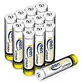 Keenstone 12 Stück Lithium Batterie Micro AAA, 1.5V 1200mAh Einweg Batterien für Fernbedienung, Rauchmelder, Drahtlose Mikrofone, Multimeter (Nicht Wiederaufladbar)