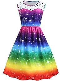 Suchergebnis auf Amazon.de für: regenbogen kleid - Damen ...