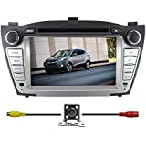 "BlueLotus® für Hyundai ix35 2010 2011 2012 In-Dash 7 ""Touchscreen DVD GPS Navigation Bluetooth RDS-TV Radio SD / USB Av + umge Auto-hintere Kamera + Free EU Map"