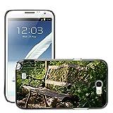Hülle Case Schutzhülle Cover Premium Case // M00290833 Garten-Bank Bank Lehne Sitz Holz // Samsung Galaxy Note 2 II N7100