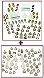 1 x 63 teiliges PC Einbau Schrauben Set für alle PC Gehäuse + 1 x 48 teiliges PC Einbau Schrauben Set für alle PC Gehäuse - 2 x Mainboard und Laufwerksbefestigung Schrauben Set