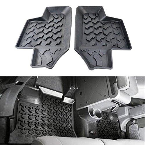 Dqdz gomma nera posteriore fila tappetini antiscivolo tappeti-Confezione da 2