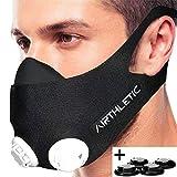 AIRTHLETIC Training Mask con 6 tapas blancas y 6 tapas negras - Máscara de entrenamiento profesional para entrenamiento en altitud