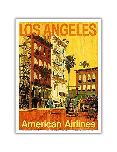 Pacifica Island Art Los Angeles-American Airlines-Hollywood Kalifornien Film-Set-Vintage Airline Travel Poster von V.K c.1960s-Master Kunstdruck 9