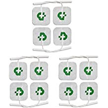 12 electrodos Tesmed para electroestimulador mm. 40 x 40, universales, lavables, no es necesario el gel.