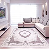 Moderner Europäisch-Orientalischer Teppich Aegea (200 cm x 290 cm, Ellypsis Damson)